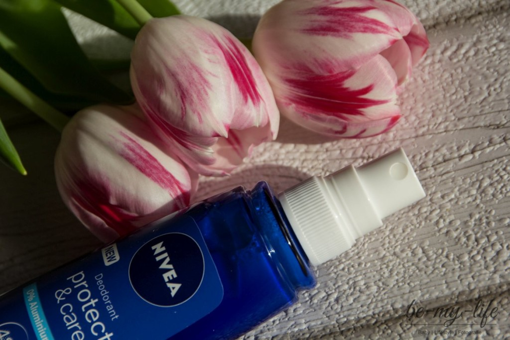 Nivea Deo protect & care Spray Anwendung